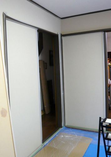 壁塗り準備