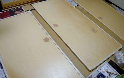 戸の塗装 下塗り