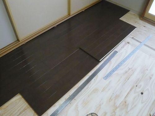 床材張り始め